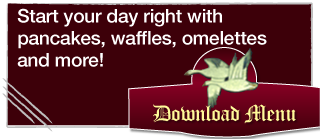 Start your day right with pancakes, waffles, omelettes and more!
